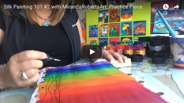 learn Silk Painting with this Practice Piece from MirandaRobertsArt