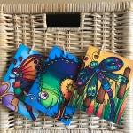 Cards from silk painting originals by Miranda Roberts